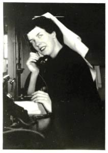 1951 RMH Ward 2 East Nurses station Sister Joan Webster cropped