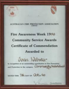 1990 AFPA award