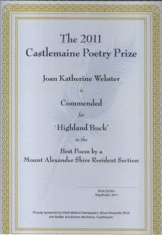 2011 Poetry Commeded -Highland Buck