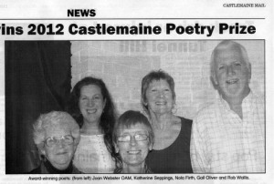 2012-11-02 Castlemaine Poetry Prize winners