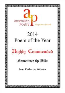 2014 Australian Poetry Poem of the Year HC