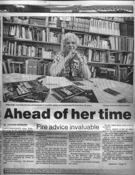 Joan Webster OAM Bendigo Advertiser