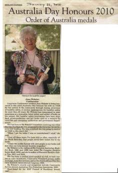 Joan Webster OAM - Midland Express