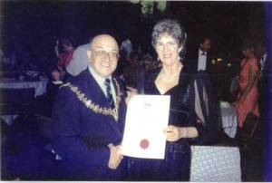 Joan with Mayors of Port Elizabeth S Africa
