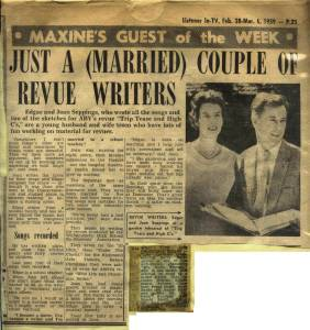 Just a Married Couple of Revue Writers -2