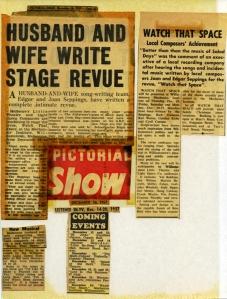 News clippings Watch That Space-2 Joan and Edgar Seppings -2